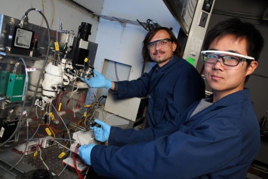 Four-stroke engine cycle produces hydrogen from methane, captures carbon dioxide